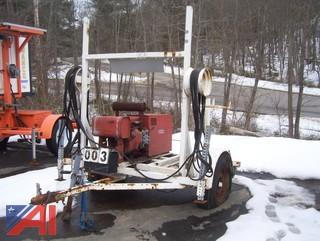 Lincoln AC225/DC210-6 Welder on Trailer