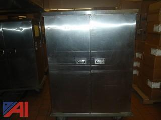 (#62) Stainless Steel Food Storage Cart