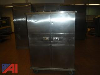 (#63) Stainless Steel Food Storage Cart