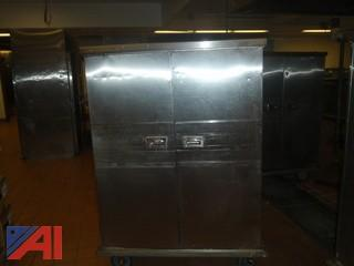 (#64) Stainless Steel Food Storage Cart