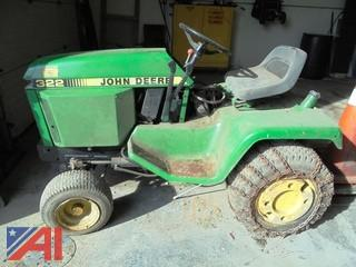 "1988 50"" John Deere 322 Tiger Stripe Mower"