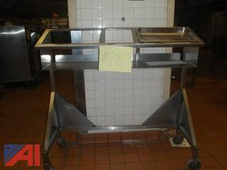 (#66) Stainless Steel Food/Condiment  Cart