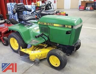 "1992 50"" John Deere 318 Riding Lawn Mower"
