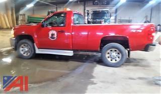 2014 Chevrolet Silverado 3500 HD Pickup Truck with Plow