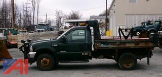 2003 Ford F550 Pickup Truck with Dump Body and Plow