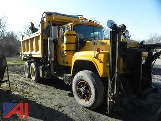 1988 Mack RD686S Dump Truck with Plow and Salt Spreader