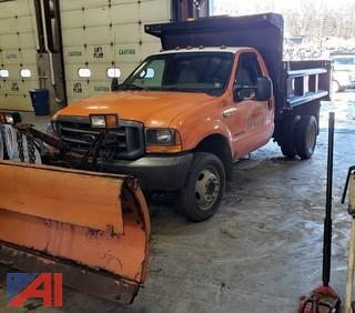 2000 Ford F550 Dump Truck with Plow