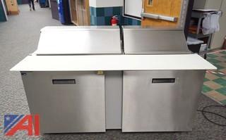 Randell 5' Stainless Steel Double Door Refrigerated Sandwich/Prep Unit