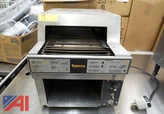 Savory Conveyor Stainless Steel Toaster, #RT2VS