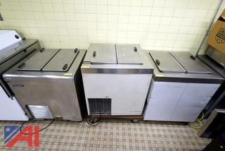 Self Contained Flat Top Ice Cream Freezers
