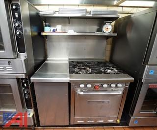 Universal Chef 4 Burner Gas Range/Oven