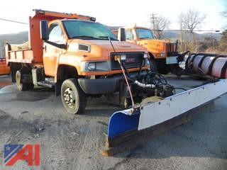 2006 GMC C5C042 Dump Truck with Plow and Salt Spreader