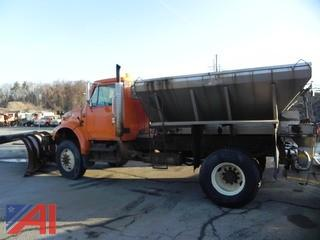 2002 International 4800 Sander Truck with Plow