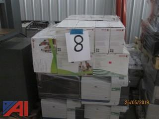 Pallets of Various Printers with Toners