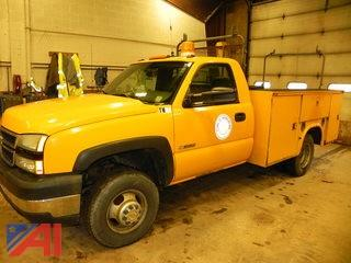 2006 Chevy Silverado 3500 Pickup with Utility Bed