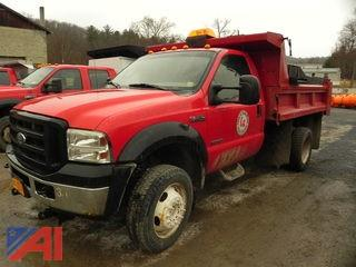 2006 Ford F550 XL Super Duty Dump Truck with Plow