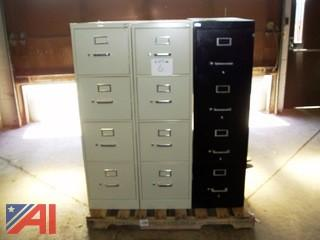 Letter Size 4 Drawer Filing Cabinets