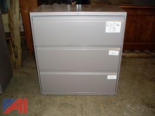 3 Drawer Beige Lateral File Cabinet