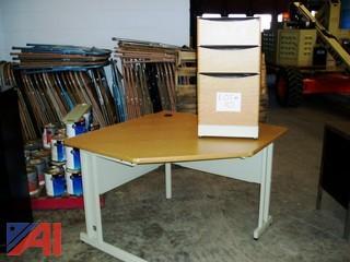 Corner Workstation with Cabinet