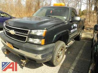 #1 2006 Chevy Silverado 2500 HD Pickup Truck with Plow