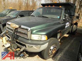 #3 2001 Dodge Ram 3500 Dump Truck with Plow