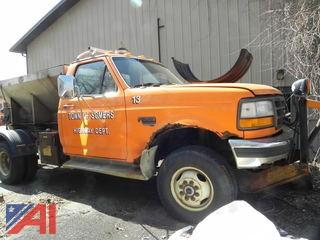 #18 1995 Ford F350 Pickup Truck with Sander