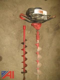 "Earthquake Gasoline Powered Auger with 4"" and 5"" Bits"