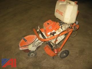Stihl TS510 Concrete Saw with Chassis and (2) Tanks
