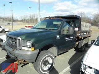 #1 2003 Ford F350 XL Super Duty Dump Truck with Plow