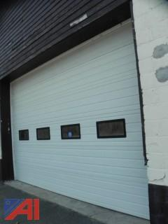 (#1) Garage Door with Tracks, Springs & Electric Opener
