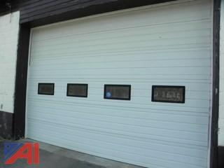 (#2) Garage Door with Tracks & Electric Opener