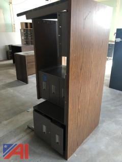 Metal Desk with Wood Top