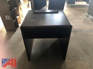 Wood Computer Printer Table