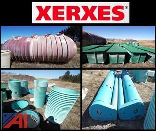 Xerxes 15,000 Gal. Tank with PVC Basins & Processing Tank Components
