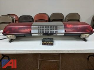 Federal Street Hawk Light Bar,  Model S-1 & Switch Box