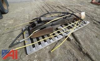 Hydraulic Thumb off a Kobelco Excavator #250
