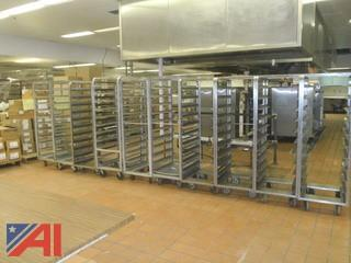 Stainless Steel Food Serving Racks on Wheels