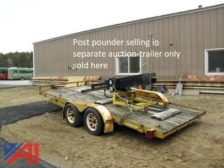 1991 Cross Country 616TU 20' Flatbed Trailer