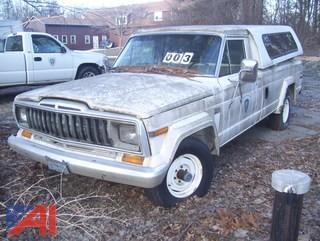 1987 Jeep AMC J10 Pickup Truck with Cap