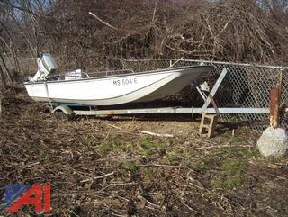 "1976 Boston Whaler 13'6"" Boat and Trailer"