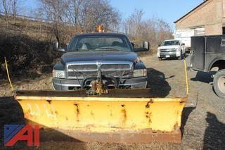 2001 Dodge Ram 3500 Pickup with Utility Bed and Plow