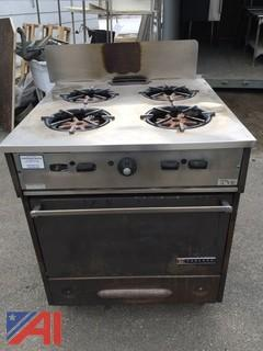 Garland 4 Burner Range Single Oven