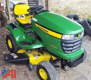 "John Deere X300 42"" Riding Lawn Mower"