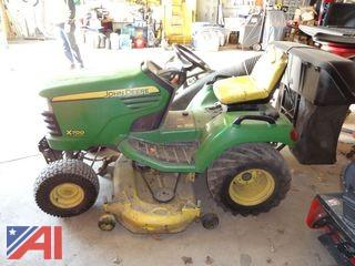 "2011 John Deere X700 54"" Mower with Bagger"