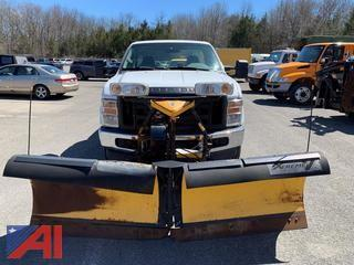 2009 Ford F350 XL Super Duty Pickup Truck with Plow
