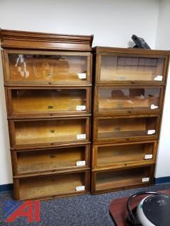 Stackable Oak Book Shelves