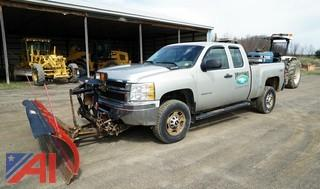 2011 Chevy Silverado 2500HD Extended Cab Pickup with Western plow