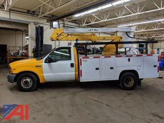 1999 Ford F350 Super Duty Bucket Truck with Utility Truck