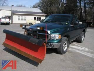 2003 Dodge Ram 1500 Pickup Truck with Plow