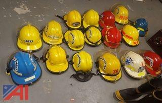 Various Fire Fighter Helmets